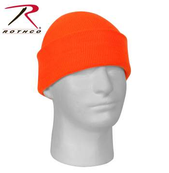 Deluxe Fine Knit Watch Cap Safety Orange