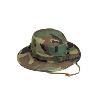 Camo Poly/Cotton Boonie Hat Woodland Camo