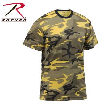 Colored Camo T-Shirt Stinger Yellow Camo