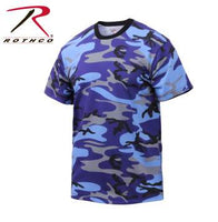 Colored Camo T-Shirt Electric Blue Camo