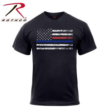 Thin Blue Line & Thin Red Line T-shirt