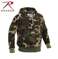 Zippered Thermal Lined Hooded Sweatshirt