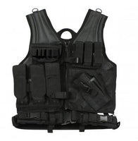 Cross Draw MOLLE Tactical Vest Black