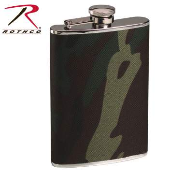 Woodland Camo Stainless Steel Camo Flask