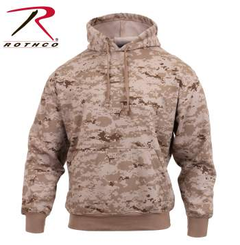 Camo Pullover Hooded Sweatshirt Desert Digital