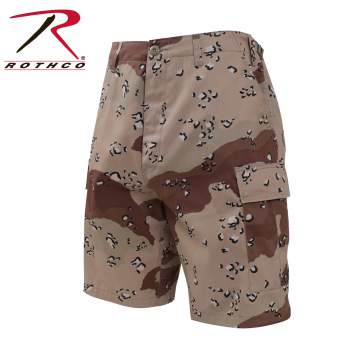 CAMO BDU SHORTS 6-COLOR DESERT CAMO/NICKNAME-CHOCOLATE CHIP