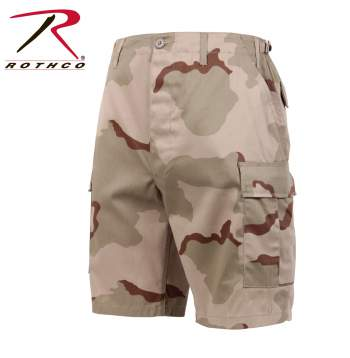 CAMO BDU SHORTS TRI-COLOR DESERT CAMO