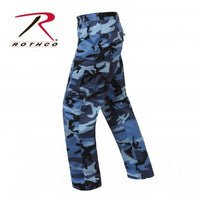 Color Camo BDU Pants, Sky Blue Camo