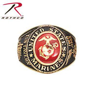Deluxe Brass Engraved Ring Marines