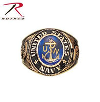 Deluxe Brass Engraved Ring U.S. Navy