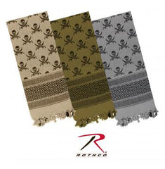 Skulls Shemagh Tactical Desert Scarf     (click photo to view additional colors)