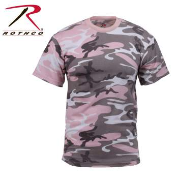 Colored Camo T-Shirt Subdued Pink Camo