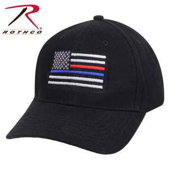 Thin Blue Line & Red Line Low Profile Flag Cap
