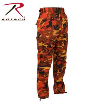 Color Camo BDU Pant, Savage Orange Camo