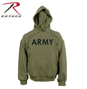 Army PT Pullover Hooded Sweatshirt, Olive Drab