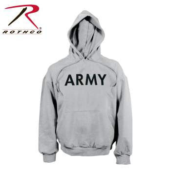Army PT Pullover Hooded Sweatshirt, Grey
