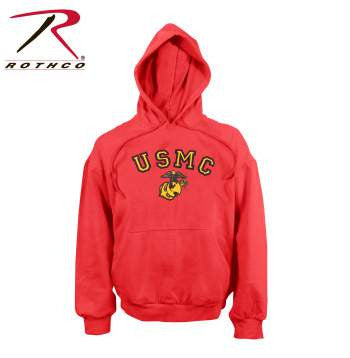 USMC Globe & Anchor Pullover Hooded Sweatshirt