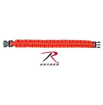 Solid Color Paracord Bracelet, Red