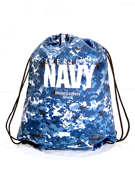 BUY ONE GET ONE FREE SALE, No Minimum: US NAVY DIGITAL DRAWSTRING BAG