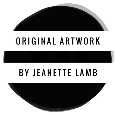 Original artwork by Jeanette Lamb LAMB design Sydney Australia artist