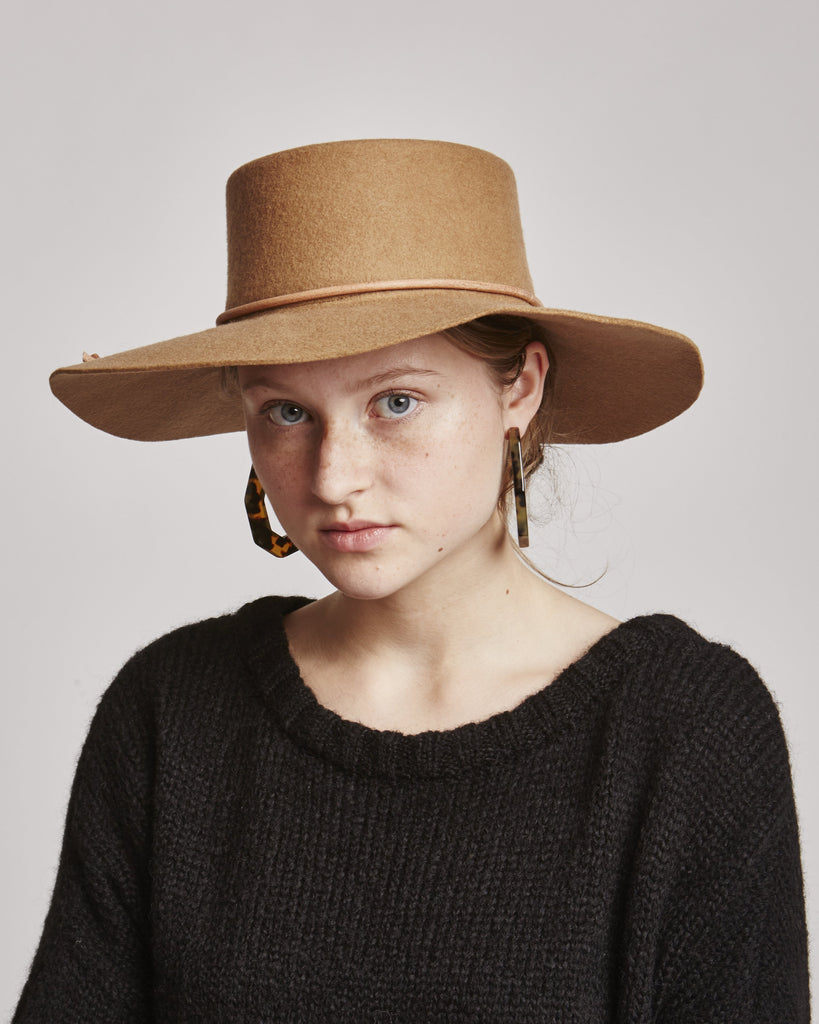 Reinette wool hat in Beige