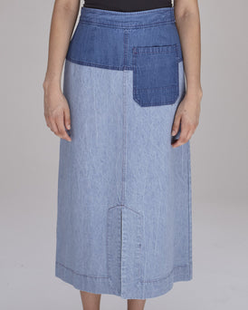 Georgia Skirt in Blue Combo
