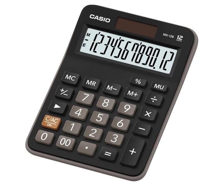 Casio-Casio Mini Desktop: MX-12B-BK-4971850032199-BukuDBP.com