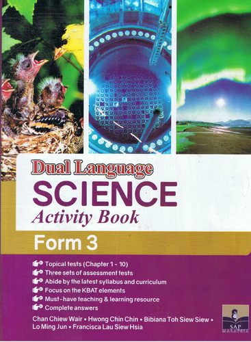 Dual Language Science Activity Book Form 3