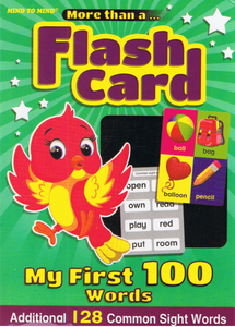 More Than A... Flash Card My First 100 Words Additional 128 Common Sight Words
