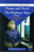 Load image into Gallery viewer, Literary Analysisi Notes In English And Malay: Poems And Novel The Elephant Man Form 3