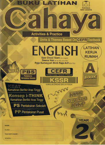 Buku Latihan Cahaya: English Year 2