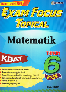 Exam Focus Topical: Matematik Tahun 6