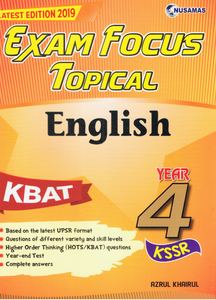 Exam Focus Topical: English Year 4