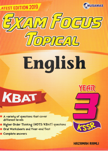 Exam Focus Topical: English Year 3