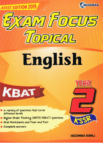 Exam Focus Topical: English Year 2