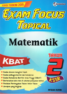 Exam Focus Topical: Matematik Tahun 2