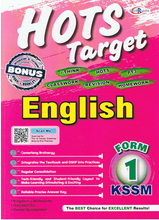 Load image into Gallery viewer, Cemerlang-Hots Target: English Form 1-9789674555771-BukuDBP.com