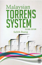 Load image into Gallery viewer, Dewan Bahasa dan Pustaka-Malaysian Torrens System (Second Edition)-9789836294654-BukuDBP.com
