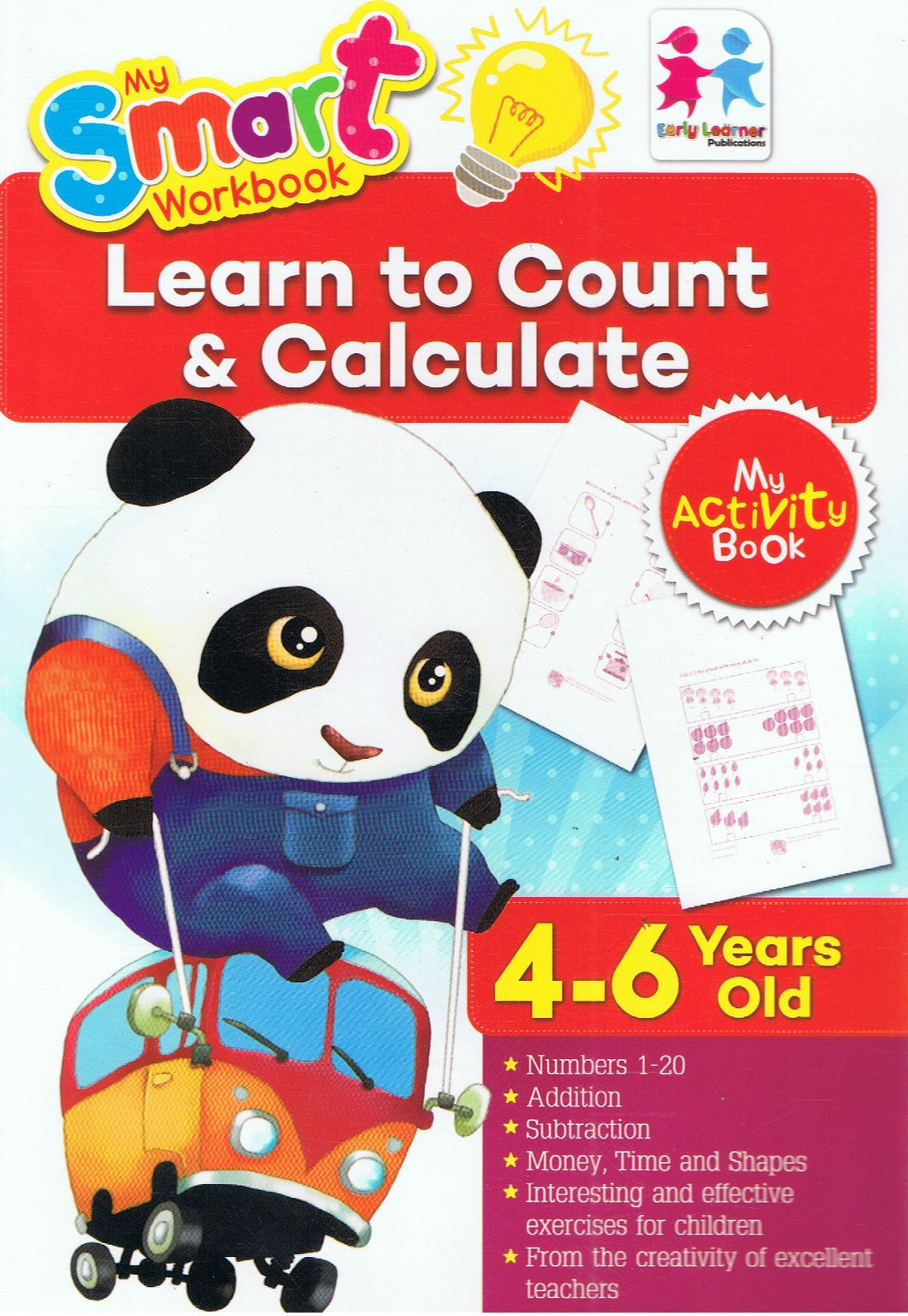 Early Learner-My Smart Workbook (My Activity Book): Learn To Count & Calculate 4-6 Year Old-9789833322374-BukuDBP.com