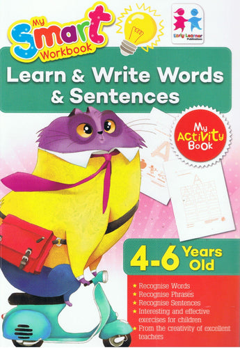 Early Learner-My Smart Workbook (My Activity Book): Learn & Write Words & Sentences 4-6 Year Old-9789833322367-BukuDBP.com