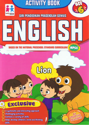 Early Learner-Siri Pendidikan Prasekolah Genius (Activity Book): English Age 6-9789833322077-BukuDBP.com
