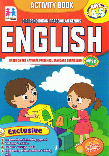 Early Learner-Siri Pendidikan Prasekolah Genius (Aktivity Book): English Ages 4-5-9789833322060-BukuDBP.com