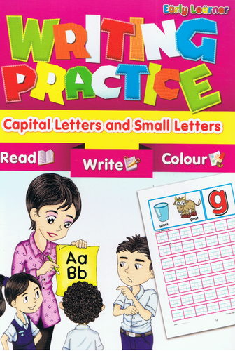 Early Learner-Writing Practice Capital Letters And Small Letters-9789833132133-BukuDBP.com