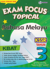 Load image into Gallery viewer, Nusamas-Exam Focus Topical: Bahasa Melayu Tahun 3-9789674369729-BukuDBP.com