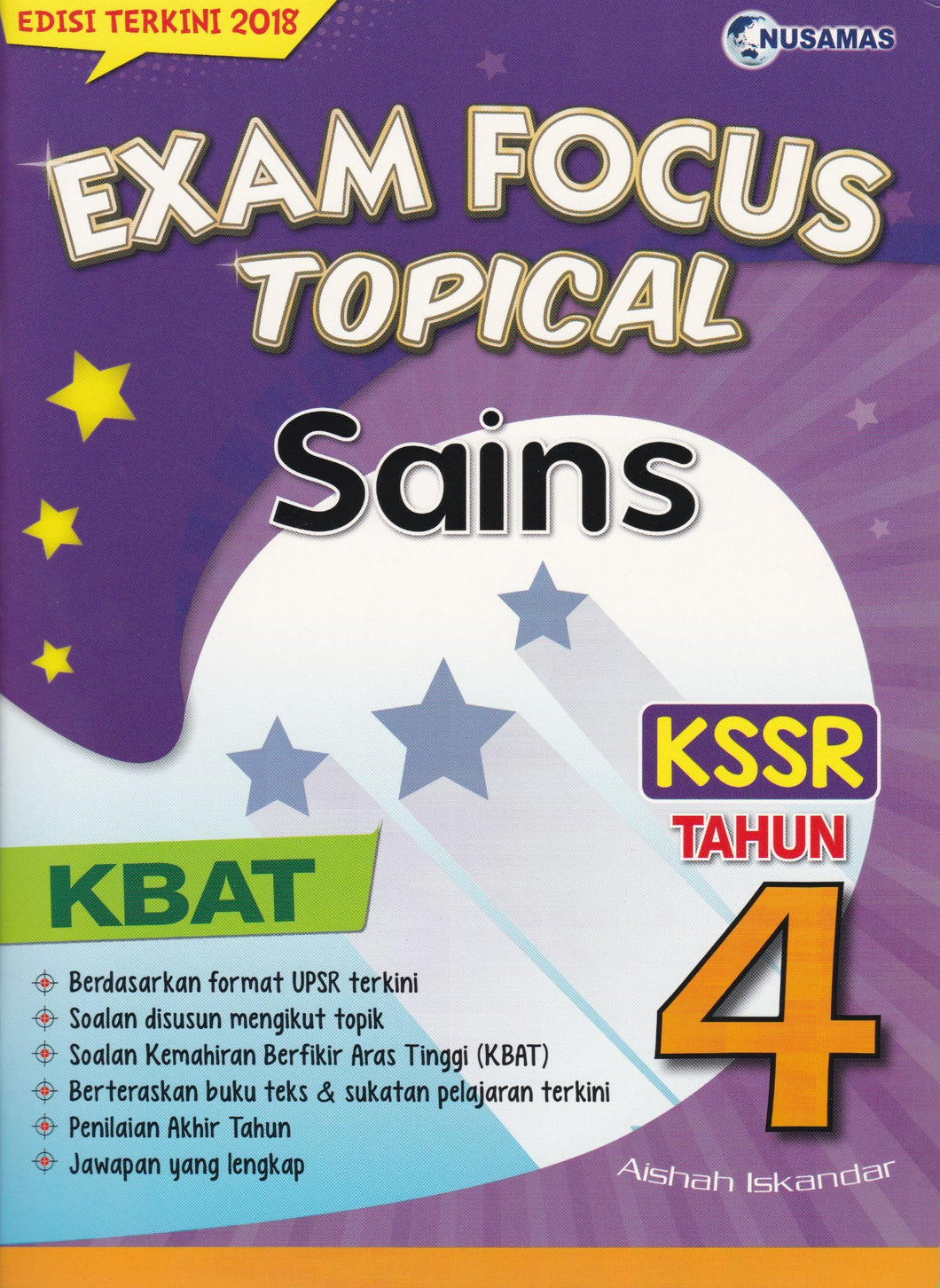 Nusamas-Exam Focus Topical: Sains Tahun 4-9789674369910-BukuDBP.com