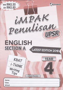 Nusamas-Impak Penulisan: English Section A Year 4-9789674870096-BukuDBP.com