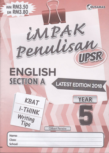 Nusamas-Impak Penulisan: English Section A Year 5-9789674870126-BukuDBP.com