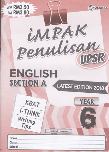 Nusamas-Impak Penulisan: English Section A Year 6-9789674870157-BukuDBP.com