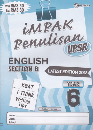 Nusamas-Impak Penulisan: English Section B Year 6-9789674870164-BukuDBP.com
