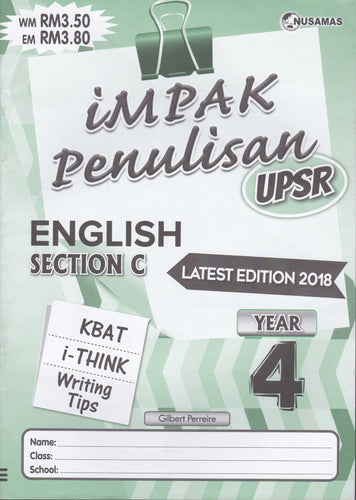 Nusamas-Impak Penulisan: English Section C Year 4-9789674870119-BukuDBP.com